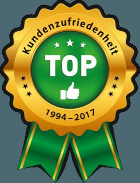 TOP Kundenzufriedenheit 1994–2017