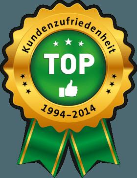 TOP Kundenzufriedenheit 1994 - 2014